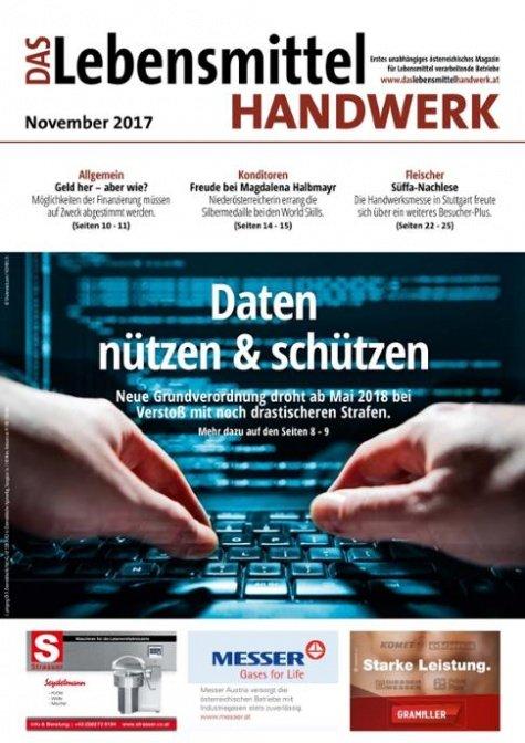 Das Lebensmittelhandwerk Digital Nr. 11/2017